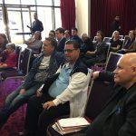 Paul Blyton draws spot A on ballot paper.