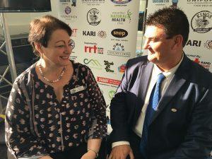 24 Hour Macarthur deputy chairperson Sue McGarrity and chairman Warren Morrison