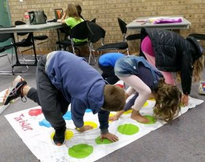 Home schooling children taking part in a learning activity at Campbelltown Library.