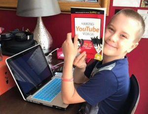 A Macarthur home school student studying.
