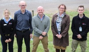 Niall Blair with plant biosecurity officer Martin Horwood, district vet Lisa Goodchild and biosecurity officers Annaliese Geddes and Joshua Topham.