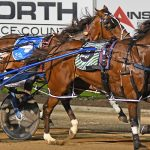 Isobel Ross became the first quadruplet to drive a winner, Eye See Diamonds, to victory at Club Menangle in Saturday's Group Three Garrards Teeny Teeny Stakes.