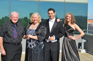 Let's rock: Getting ready for the Liverpool Mayoral Ball are John and Buffy from YADA, Anne-Maree Curry from Liverpool Hospital and Mayor Ned Mannoun.
