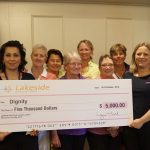 Lakeside Lady Golf Club Members annual Tee up for life charity golf day raised $5,000 for homeless charity Dignity.