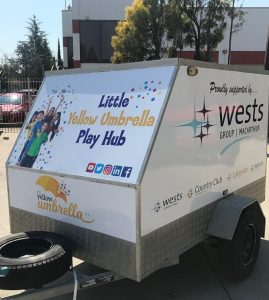 Little Yellow Umbrella play hub trailer will be launched on November 1 at Wests Leagues Campbelltown.