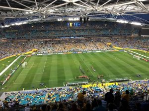 The Olympic Stadium, which hosted the 2000 Sydney Games, is one of two stadiums the state government wants to knock down and rebuild at a cost of around $2.5 billion.