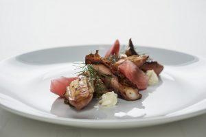 Fremantle octopus, kimchi, pickled radish and Japanese mayo.
