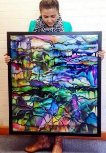 Release II, the Celeste Wrona painting purchased by contestants on The Block.