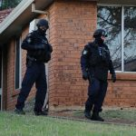 Members of during this morning's operation in Macarthur and south west Sydney suburbs targetting drugs.