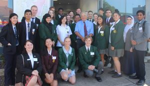 Dr Mike Freelander at this year's Macarthur student leaders forum.