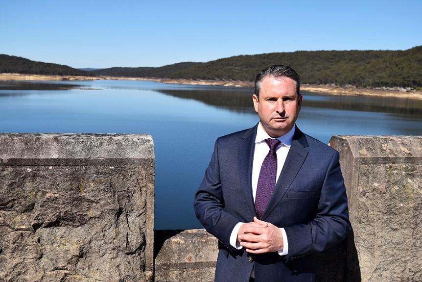 MP Greg Warren at Cataract Dam late last year.