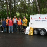 Community spirit: Members of Liverpool Action Group during Clean UP Australia days in 2013 and this year.