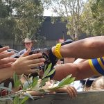 """Laurie """"Truck'' Sams, gets a hero's welcome from locals at Picton-Thirlmere-Bargo RSL Sub branch."""
