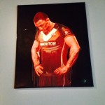 A painting of Wests Tigers captain Robbie Farah is part of the exhibition at Campbelltown Arts Centre