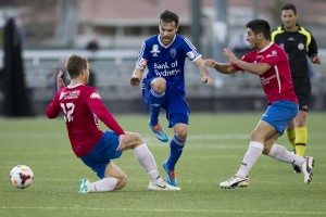It wasn't meant to be: The Bonnyrigg White Eagles were eliminated in a penalty shootout against Sydney Olympic. Picture: Football NSW